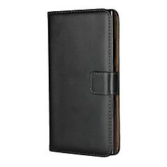 Недорогие Чехлы и кейсы для Sony-Кейс для Назначение Sony Xperia XA2 Xperia L2 Бумажник для карт со стендом Флип Чехол Однотонный Твердый Кожа PU для Xperia XA2 Xperia L2