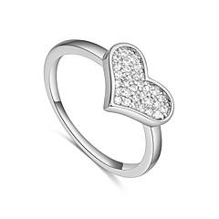 preiswerte Ringe-Damen Bandring - Zirkon, Kupfer Herz Einfach, Europäisch, Modisch 7 Gold / Silber Für Hochzeit / Party