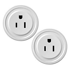 abordables Hogar Inteligente-waza smart plug (us) mini outlet compatible con amazon alexa y google assistant, wifi habilitado control remoto smart socket con función de temporizador, no se requiere hub (paquete de 2)