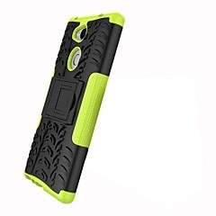 Недорогие Чехлы и кейсы для Sony-Кейс для Назначение Sony Xperia XZ2 Xperia L2 Защита от удара со стендом броня Кейс на заднюю панель Плитка броня Твердый ПК для Xperia