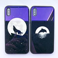 halpa iPhone 7 kotelot-Etui Käyttötarkoitus Apple iPhone X iPhone 8 Iskunkestävä Kuvio Takakuori Eläin Kova Karkaistu lasi varten iPhone X iPhone 8 Plus iPhone