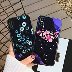 Недорогие Кейсы для iPhone 6-Кейс для Назначение Apple iPhone X iPhone 8 Защита от удара С узором Кейс на заднюю панель С сердцем Цветы Твердый Закаленное стекло для