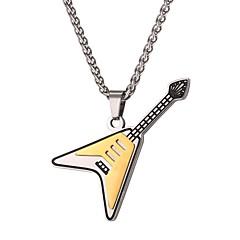 Недорогие Ожерелья-Муж. Ожерелья с подвесками  -  Мода Гитара Золотой 55cm Ожерелье Назначение Повседневные