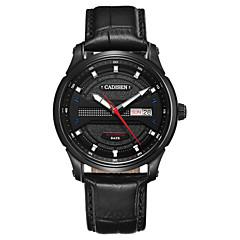 お買い得  メンズ腕時計-CADISEN 男性用 機械式時計 日本産 50 m 耐水 カレンダー クールな単語 / フレーズ 本革 バンド ハンズ ぜいたく ファッション ブラック - ブラック ブラック / ローズゴールド / ステンレス / 夜光計