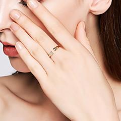 preiswerte Ringe-Damen Kubikzirkonia Öffne den Ring - S925 Sterling Silber Zierlich, Grundlegend, Koreanisch 8 Gold Für Alltag / Party