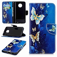 cheap Cases / Covers for Motorola-Case For Motorola Moto G6 Plus / MOTO G5 Wallet / Card Holder / with Stand Full Body Cases Butterfly Hard PU Leather for MOTO G6 / Moto G5s / Moto G5 Plus