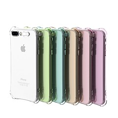 abordables Fundas para iPhone 4s / 4-Funda Para Apple iPhone 8 / iPhone 7 Antigolpes / Linterna LED / Transparente Funda Trasera Un Color Suave TPU para iPhone X / iPhone 8 Plus / iPhone 8
