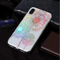 Недорогие Кейсы для iPhone X-Кейс для Назначение Apple iPhone X / iPhone 8 IMD / С узором Кейс на заднюю панель одуванчик Мягкий ТПУ для iPhone X / iPhone 8 Pluss /