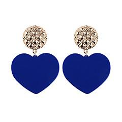 preiswerte Ohrringe-Tropfen-Ohrringe - Herz, Ausrüstung Modisch Türkis / Hellblau / Leicht Rosa Für Party / Alltag / Verabredung