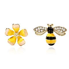 preiswerte Ohrringe-Nicht übereinstimmend Ohrstecker - Blumen / Botanik, Blume, Biene Modisch Gelb Für Alltag