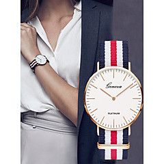 cheap Women's Watches-Women's Sport Watch Chinese Chronograph / Casual Watch Cloth Band Fashion / Elegant Black / Blue / Red
