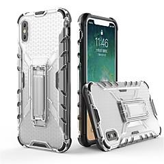 Недорогие Кейсы для iPhone 6 Plus-Кейс для Назначение Apple iPhone X / iPhone 8 со стендом / Прозрачный Кейс на заднюю панель броня Мягкий ТПУ для iPhone X / iPhone 8 Pluss / iPhone 8