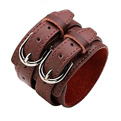 Недорогие Браслеты-Кожаные браслеты - Мода Браслеты Белый / Черный / Кофейный Назначение Официальные / Для улицы