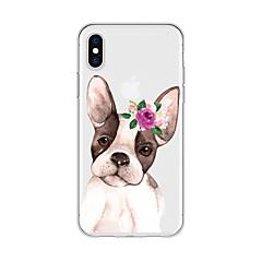 お買い得  iPhone 5S/SE ケース-ケース 用途 Apple iPhone X / iPhone 8 Plus パターン バックカバー 犬 / カートゥン / フラワー ソフト TPU のために iPhone X / iPhone 8 Plus / iPhone 8
