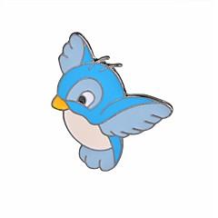 お買い得  ブローチ-女性用 鳥 ブローチ  -  カトゥーン / ファッション フラミンゴ / 翼 / 羽 ライトブルー ブローチ 用途 日常 / パーティー