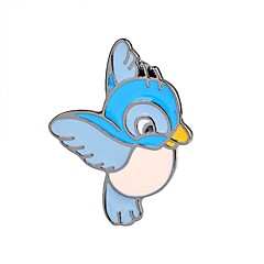 お買い得  ブローチ-女性用 鳥 ブローチ  -  動物 / カトゥーン / ファッション フラミンゴ / 翼 / 羽 ライトブルー ブローチ 用途 パーティー / お出かけ