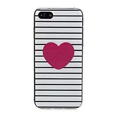 Недорогие Кейсы для iPhone 6 Plus-Кейс для Назначение Apple iPhone X / iPhone 7 Ультратонкий / С узором / Милый Кейс на заднюю панель С сердцем Мягкий ТПУ для iPhone X /