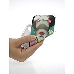 Недорогие Кейсы для iPhone 6 Plus-Кейс для Назначение Apple iPhone X / iPhone 7 Ультратонкий / С узором / Милый Кейс на заднюю панель Соблазнительная девушка / Цветы Мягкий