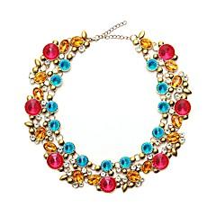 お買い得  ネックレス-女性用 チョーカー  -  フォーマル / 欧風 円形 グレー / レインボー / ブルー 43cm ネックレス 用途 パーティー
