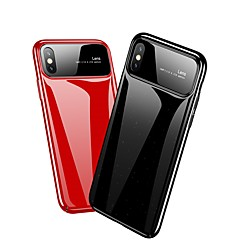 Недорогие Кейсы для iPhone X-Кейс для Назначение Apple iPhone X / iPhone 8 Зеркальная поверхность / Ультратонкий Кейс на заднюю панель Однотонный Твердый ПК для
