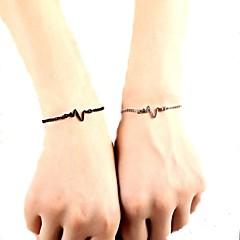 preiswerte Armbänder-Damen Ketten- & Glieder-Armbänder - Herz, Herzfrequenz Retro, Modisch Armbänder Gold / Schwarz / Silber Für Alltag / Büro & Karriere