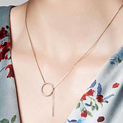 preiswerte Halsketten-Damen Anhängerketten / Ketten - 18K vergoldet, S925 Sterling Silber Zierlich Gold 40 cm Modische Halsketten Schmuck Für Alltag, Festival