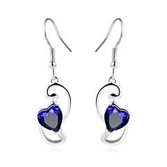 abordables Bijoux pour Femme-Zircon Boucles d'oreille goutte - Goutte, Cœur, Fréquence cardiaque Mode Argent Pour Mariage Quotidien