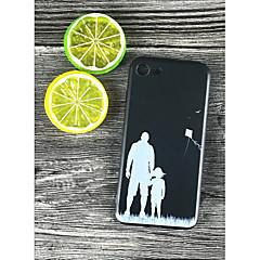 Недорогие Кейсы для iPhone 7 Plus-Кейс для Назначение Apple iPhone X / iPhone 8 Plus Защита от удара / С узором Кейс на заднюю панель Плитка Мягкий ТПУ для iPhone X /