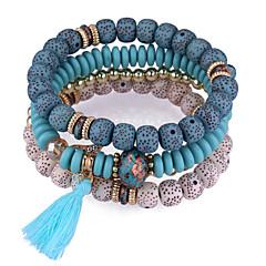 preiswerte Armbänder-Quaste Strang-Armbänder - Harz Europäisch, Ethnisch, Modisch Armbänder Rot / Blau / Rosa Für Alltag