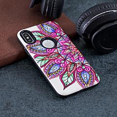 お買い得  iPhone 5S/SE ケース-ケース 用途 Apple iPhone X / iPhone 8 耐衝撃 / エンボス加工 / パターン バックカバー 曼荼羅 ハード PC のために iPhone X / iPhone 8 Plus / iPhone 8