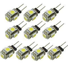 preiswerte LED-Birnen-WeiXuan 6pcs 1W 80lm G4 LED Doppel-Pin Leuchten T 5 LED-Perlen SMD 5050 Warmes Weiß Kühles Weiß Grün Gelb Blau Rot 12V