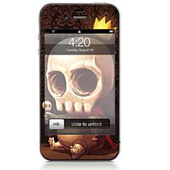 Χαμηλού Κόστους Αυτοκόλλητα για iPhone-1 τμχ Αυτοκόλλητο Καλύμματος για Προστασία από Γρατζουνιές Νεκροκεφαλές Μοτίβο PVC iPhone 4/4s