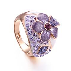 preiswerte Ringe-Damen Kubikzirkonia Nicht übereinstimmend Ring - vergoldet Blume Boho 6 / 7 / 8 Purpur Für Party / Geschenk