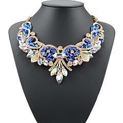 preiswerte Halsketten-Damen Kristall Anhängerketten Statement Ketten - damas, Europäisch Weiß, Rot, Blau 49 cm Modische Halsketten Schmuck Für Party