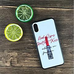 Недорогие Кейсы для iPhone-Кейс для Назначение Apple iPhone X / iPhone 8 Plus Защита от удара / Матовое / С узором Кейс на заднюю панель Слова / выражения Твердый ПК