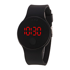 abordables Relojes Digitales-Hombre / Mujer Reloj digital Chino Resistente al Agua / LCD / Dibujo 3D Silicona Banda Cool / Elegante Negro / Blanco / Azul