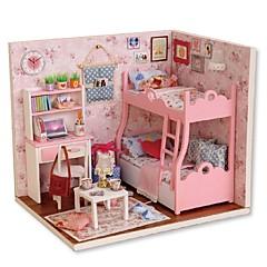 abordables Casas de Muñecas y Accesorios-Casa de Muñecas Creativo Exquisito Mini Casa Romántico Piezas Todo Chica Juguet Regalo