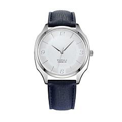 お買い得  メンズ腕時計-YAZOLE 男性用 クォーツ リストウォッチ 中国 耐水 レザー バンド ミニマリスト ブラック ブルー ブラウン
