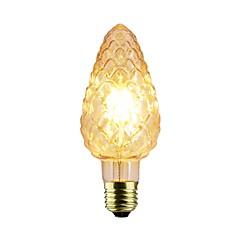 billige LED-lyspærer-1pc 4W 140-220lm E26 / E27 LED-glødetrådspærer C75 4 LED Perler COB Dæmpbar Varm hvid 220-240V