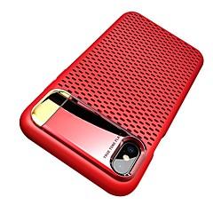 Недорогие Кейсы для iPhone 7-Кейс для Назначение Apple iPhone X / iPhone 8 со стендом / Покрытие / Ультратонкий Кейс на заднюю панель Однотонный Твердый ПК для iPhone