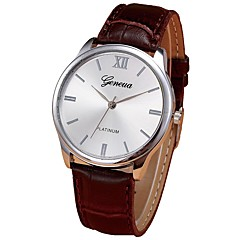 お買い得  メンズ腕時計-男性用 ドレスウォッチ 中国 クロノグラフ付き ステンレス バンド カジュアル ブラウン