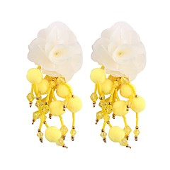 preiswerte Ohrringe-Quaste / Lang Tropfen-Ohrringe - Blumen / Botanik, Blume Süß, Modisch Rot / Grün / Hellblau Für Party / Arbeit