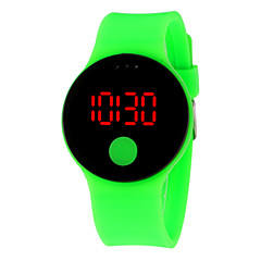 お買い得  メンズ腕時計-男性用 女性用 デジタルウォッチ デジタル 30 m 耐水 LCD 3Dカトゥーン シリコーン バンド デジタル クール エレガント ブラック / 白 / ブルー - レッド グリーン ブルー 1年間 電池寿命