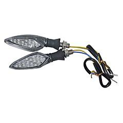 preiswerte Autozubehör-2 stücke fließenden motorrad motorrad schmutz pit bike led blinker gelb licht