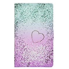Недорогие Чехлы и кейсы для Galaxy Tab 3 Lite-Кейс для Назначение SSamsung Galaxy Tab 3 Lite Бумажник для карт Защита от удара со стендом Флип Кейс на заднюю панель С сердцем Твердый