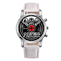 お買い得  メンズ腕時計-男性用 クォーツ ドレスウォッチ 中国 クロノグラフ付き PU バンド カジュアル ブラック / 白 / ブラウン