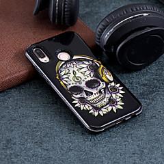 お買い得  Huawei Pシリーズケース/ カバー-ケース 用途 Huawei P20 / P20 lite パターン バックカバー スカル ハード PC のために Huawei P20 / Huawei P20 lite / P10 Lite