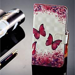 abordables Novedades-Funda Para Huawei P20 lite P20 Pro Soporte de Coche Cartera con Soporte Flip Magnética Funda de Cuerpo Entero Mariposa Dura Cuero de PU
