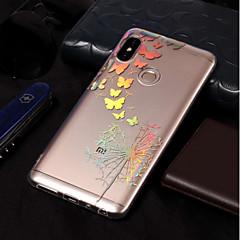 Недорогие Чехлы и кейсы для Xiaomi-Кейс для Назначение Xiaomi Redmi Note 5 Pro / Redmi 5A Покрытие / С узором Кейс на заднюю панель Бабочка / одуванчик Мягкий ТПУ для