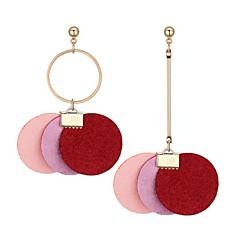 preiswerte Ohrringe-Damen Nicht übereinstimmend Tropfen-Ohrringe - Modisch Grau / Rot / Rosa Für Alltag / Ausgehen